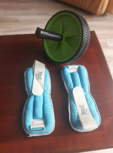 Ankle Weights + Ab Roller