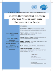 UNA Bham event - 21sr Centruy Global Challenges