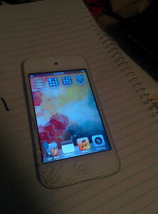iPod Touch with cracked Screen (Still works fine)
