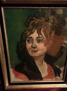 Portrait Painting in Acrylic Paint or Chalk Pastel, Local Artist