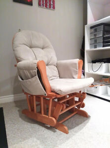 Rocking glider chair with ottoman