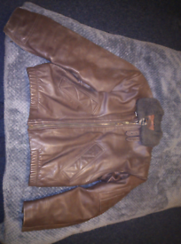 BRANDED COAT JACKET LEATHER RARE VINTAGE