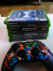 Xbox one with 7 games and controller
