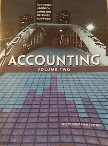 Accounting (ninth canadian edition)