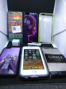 Apple iPhone 6 64GB UNLOCKED with case, charger and plug