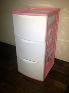 Plastic 3 drawers storage container