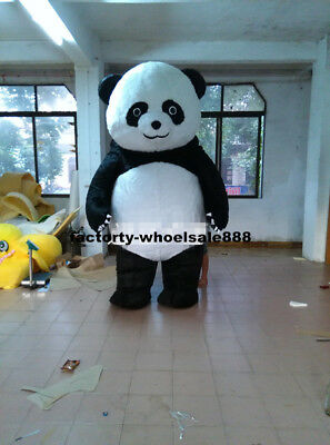 Big Inflatable Suit (2m Inflatable Big Chinese Panda Plush Bear Mascot Costumes Suits Adult Size)