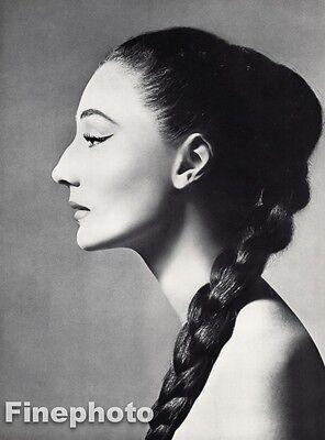 1955 Vintage VICOMTESSE JACQUELINE de RIBES 16x20 Fashion Design RICHARD AVEDON