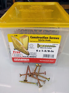 Screws for fence, deck, construction  6 x 1 5/8  4lbs  only  $25