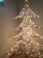 6 foot indoor or outdoors white metal Christmas Tree