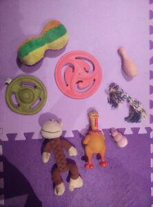 Various dog toys