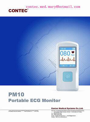 Contec Pm10 Portable Ecg Ekg Machine Heart Beat Monitorusb Bluetoothlcd Usa