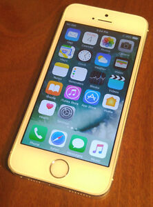 iPhone 5s 16gb Rogers/ChatR Silver-  AppleCare til April 7th