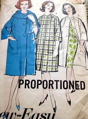 *LOVELY VTG 1960s COAT & SCARF Sewing Pattern 14/34