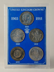 United Kingdom Crowns 1965  - 1981 5-coin Set