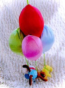 Hanging Animal Hot Air Balloon Plush Crib Toy Decor Accessory