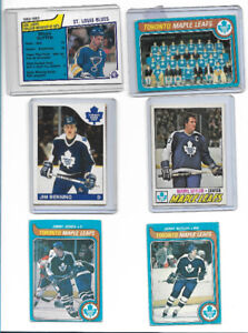 Toronto Maple Leafs,  a few players.  very good condition