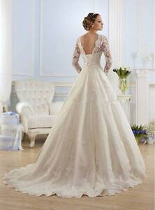 NEW WEDDING DRESS, PEDICOAT* VEIL & Bag SET SIZE 12/14 AU Flagstaff Hill Morphett Vale Area Preview