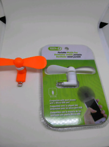 USB OR iOS (Android or iPhone) powered fan