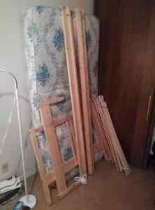 Brand new IKEA Single Bed frame with a free single mattress