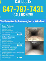 AIR VENTS DUCTS FURNACE CLEANING SERVICES.