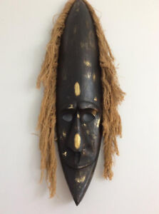 """Large African Wooden Mask 40"""" x 10"""""""