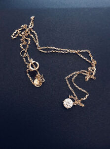 Solitaire Diamond Necklace (14K YG)