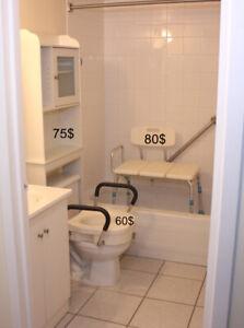 Banc orthopédique adapté de bain