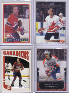 CARTES DE HOCKEY(LOT DE 7 CARTES DE GUY LAFLEUR)