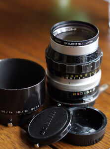 Nikkor-P 105mm f/2.5 Legacy Lens with EOS Canon adapter