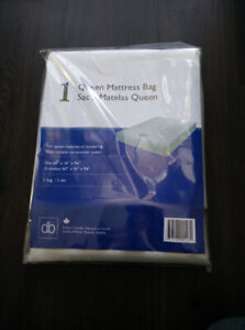 New queen sized mattress box spring bag protector moving storage