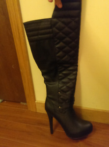 Faux leather boots size 7