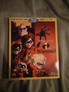The Incredibles 1 bluray combo pack