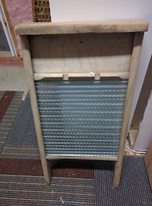 Antique Washboard and Washtubs