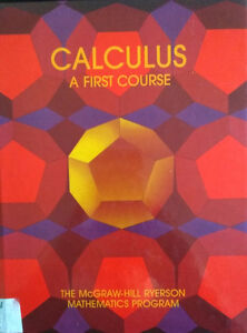 Calculus A First Course Buy Or Sell Books In Ontario