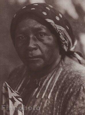 1900/72 Photo Gravure NATIVE AMERICAN INDIAN Pomo Female Art EDWARD CURTIS 11x14