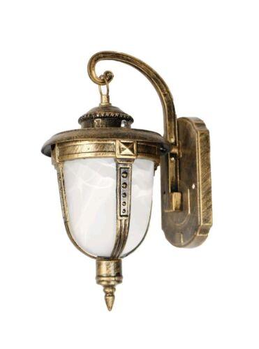 Lanterna da giardino antica luce bassa lampada parete applique esterno bronzo