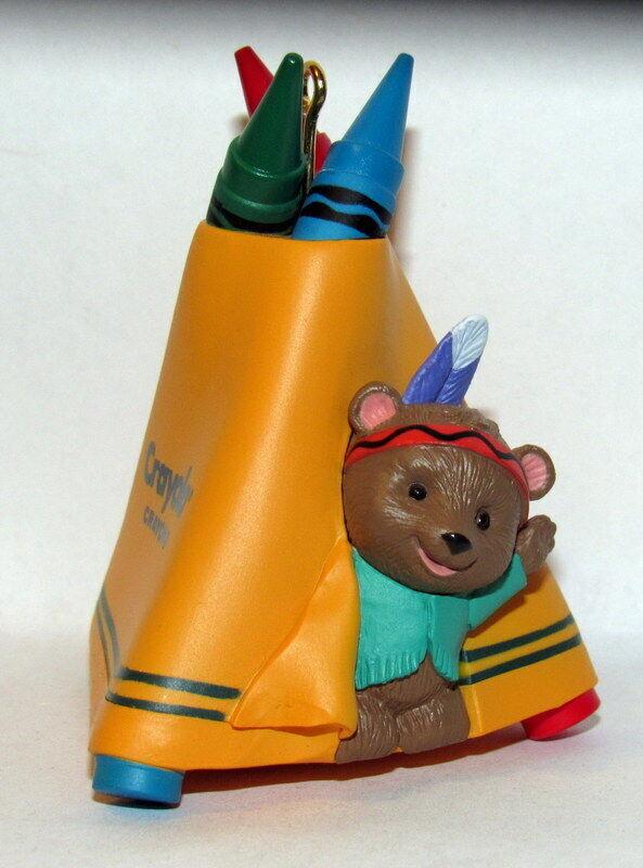 "Hallmark Ornament 7th in Crayola Crayon Series Bright ""n"" Sunny Tepee 1995"