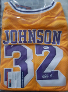 Magic Johnson Jersey Autographed Adidas Lakers NBA Basketball