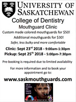 U of S College of Dentistry 2018 Mouthguard Clinic