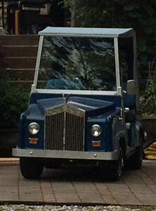 Custom Royal Ride Golf Cart