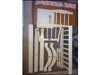 Classic Vintage 70's white wood crib cot