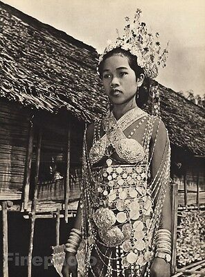 1940 Vintage BORNEO WEDDING BRIDE Iban Woman Costume Fashion Jewelry ~ K.F. WONG