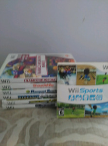 Wii  8 games,if you buy all 60$