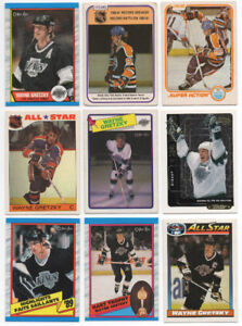 Lot of 125 Wayne Gretzky hockey cards first ad