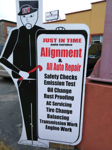 SAFETY CERTIFICATE $50--TIRE CHANGE  STARTING $20--LABOUR $50/HR