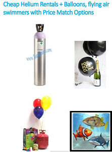 Helium Tank Rental Specials,Air swimmers & More.Available 7 Days