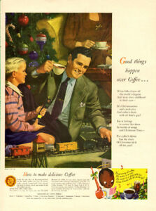 Large (10 ¼ 14) 1947 full page ad for Pan American Coffee Bureau