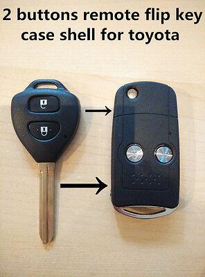 for Toyota Hilux Rav4 Corolla Camry Yaris Prado 2 button Flip Remote Key Shell