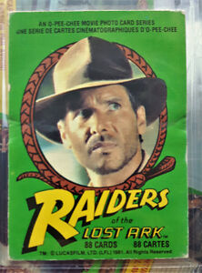 RAIDERS OF THE LOST ARK (OPC/1981) Complete Trading Card Set